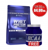 1 + 1 FREE FITWHEY Whey Protein 100 Concentrate 2000 гр + FITWHEY Bcaa 500 гр