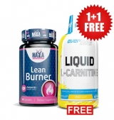 1+1 FREE  Lean Burner / 60 caps + Liquid L-Carnitine + Chromium / 1500 mg