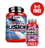 1+1 FREE AMIX Whey Pure Fusion 1000 g + Kre-Alkalyn 120 caps