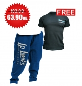 1+1 FREE LEGAL POWER  BODY PANTS BOSTON ROYAL BLUE + 4FITNESS BG T-Shirt Black