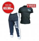 1+1 FREE LEGAL POWER BODY PANTS BOSTOMIX BLACK + 4FITNESS BG T-Shirt Black