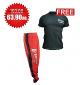1+1 FREE LEGAL POWER BODY PANTS BOSTOMIX RED + 4FITNESS BG T-Shirt Black