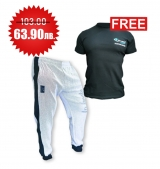 1+1 FREE LEGAL POWER BODY PANTS BOSTOMIX WHITE + 4FITNESS BG T-Shirt Black