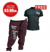 1+1 FREE LEGAL POWER BODY PANTS BOSTON BORDEAUX + 4FITNESS BG T-Shirt Black