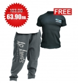 1+1 FREE LEGAL POWER BODY PANTS BOSTON GREY + 4FITNESS BG T-Shirt Black
