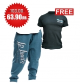 1+1 FREE LEGAL POWER BODY PANTS BOSTON PETROL + 4FITNESS BG T-Shirt Black