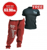 1+1 FREE LEGAL POWER BODY PANTS BOSTON RED + 4FITNESS BG T-Shirt Black