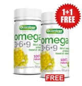 1+1 FREE QUAMTRAX Omega 3-6-9 / 60 гел капсули