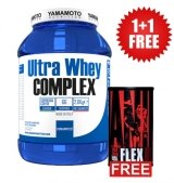 1+1 FREE Ultra Whey COMPLEX , 2000 гр / 66 дози + Animal Flex 44 Packs