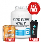 1+2 FREE 100% Pure Whey 2270 g + Charge Pre-Workout 30 serv + Shaker