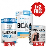 1+2 FREE BCAA 8:1:1 + Glutamine 5000 + Hand grips with counter