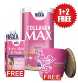1+2 FREE Collagen Max 395 гр + Hair, Skin and Nails / 60 капсули + Bamboo Bowl