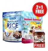 2+1 FREE Instant Rice Flour - 2000g + NUTRITION Instant Oatmeal 2000 гр + Creametto / Protein Spread / Chocolate 350 гр