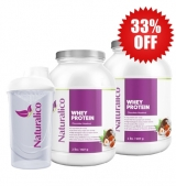 2X NATURALICO Whey Protein 907 гр + shaker 600 мл 33% OFF