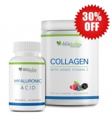 30% OFF Collagen with Vitamin C 400g + Hyaluronic Acid 70 мг / 90 таб