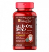All In One Omega 3, 5, 6, 7 and 9 with Vitamin D3 60softgels
