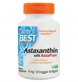 Astaxanthin With AstaPure 6 мг / 30 гел капсули