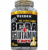 BCAA 1800mg + L-Glutamine 1800mg - 180 капсули