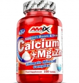 Calcium + Mg & Zn 100 Tabs.