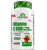 GreenDay Vitamin C 500 mg with RoseHip / 60 Caps