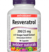 Resveratrol with Grape Seed Extract 200/25mg / 90Caps.