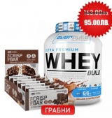 Ultra Premium Whey Build 2300 грама + ON Crisp Bar Box Free