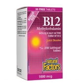 Vitamin B12 (Methylcobalamin) 1000 мг / 180+30 таблетки