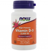 Vitamin D-3 / 2000 IU / 120 Softgels