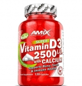 Vitamin D3 2500 IU with Calcium 250 мг / 120 капсули