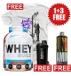 PROMO 1+3 FREE Ultra Premium Whey Build + ulisses shaker + Amino Liquid + Just Don't Quit White T-shirt